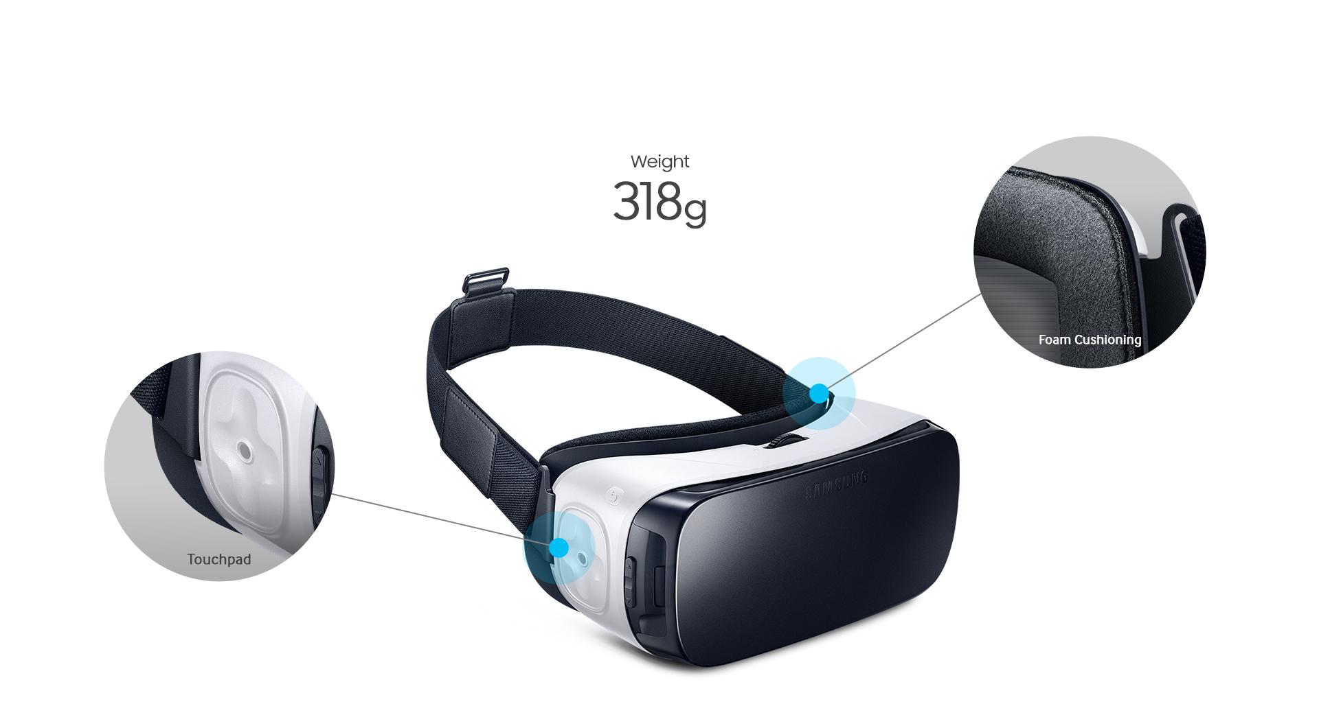 nuevas gafas Gear VR son ahora un 19% más ligeras - 318 g