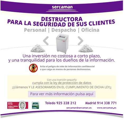 Destructora de documentos para la seguridad de sus clientes