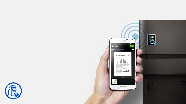 Impresión en un toque con NFC