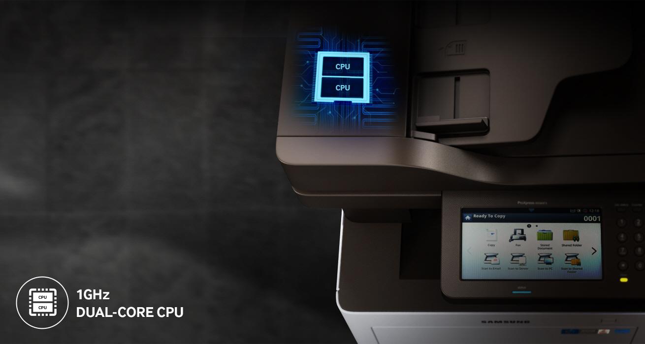 Impresión veloz con un CPU dual de 1 GHz